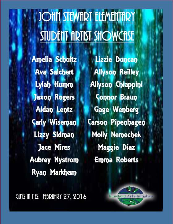Guys in Ties student showcase poster final