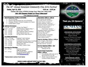 Festival Schedule 2015