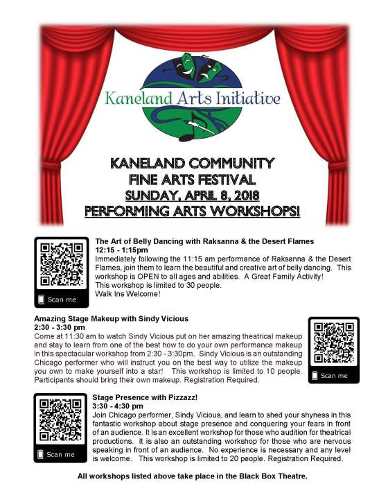 KCFAF.2018.Performing Artist Workshops Poster